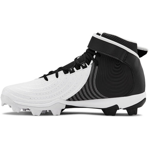 UNDER ARMOUR MEN'S HARPER 4 MID RM BASEBALL CLEAT WHITE/BLACK