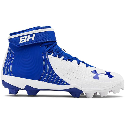 UNDER ARMOUR MEN'S HARPER 4 MID RM BASEBALL CLEAT ROYAL/WHITE