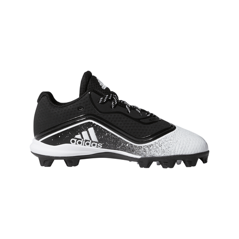 ADIDAS JUNIOR ICON V MD K BASEBALL CLEAT BLACK/WHITE