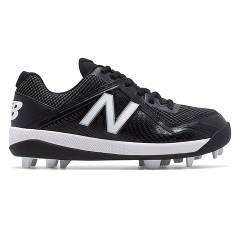 NEW BALANCE BOYS 4040 V4 WIDE BASEBALL CLEAT BLACK/WHITE