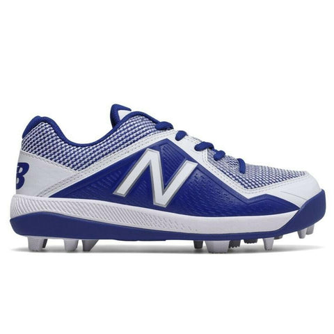 NEW BALANCE BOYS 4040 V4 WIDE BASEBALL CLEAT ROYAL/WHITE