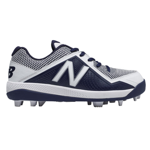 NEW BALANCE BOYS 4040 V4 BASEBALL CLEAT NAVY/WHITE