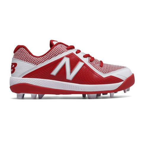 NEW BALANCE BOYS 4040 V4 BASEBALL CLEAT RED/WHITE