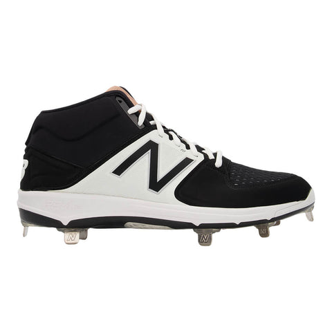 NEW BALANCE MEN'S M3000V3 WIDTH 2E BASEBALL METAL CLEAT BLACK/WHITE