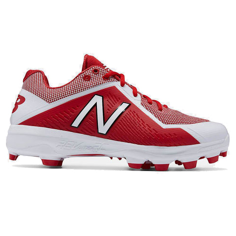 NEW BALANCE MEN'S PL4040R4 WIDTH D LOW BASEBALL CLEAT RED/WHITE