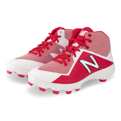 NEW BALANCE MEN'S PM4040K4 WIDTH D TPU BASEBALL CLEAT RED/WHITE