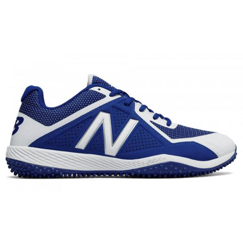 NEW BALANCE MEN'S 4040 WIDTH D BASEBALL TURF CLEAT ROYAL/WHITE