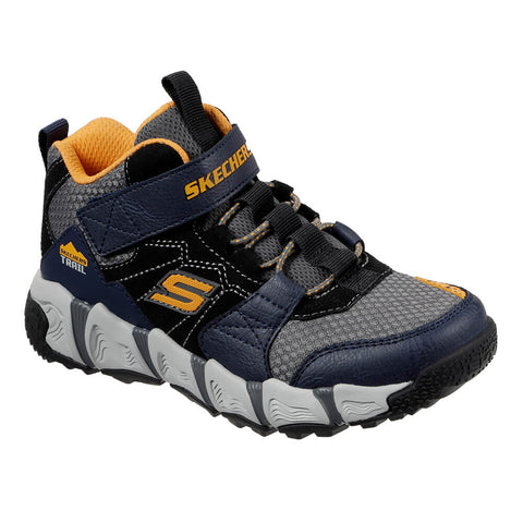 SKECHERS BOYS GRADE SCHOOL/PRE-SCHOOL VELOCITREK - MID-PEAK KIDS SHOE NAVY/BLACK