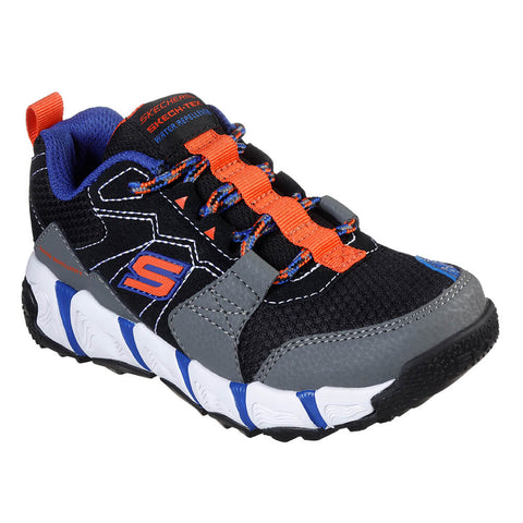 SKECHERS BOYS GRADE SCHOOL/PRE-SCHOOL VELOCITREK - TRAIL BLASTER KIDS SHOE CHARCOAL/BLACK