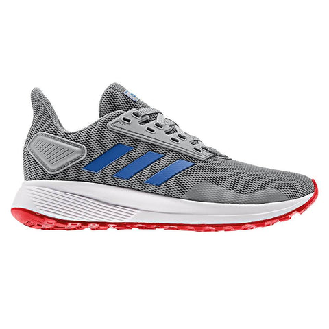 ADIDAS BOYS GRADE SCHOOL DURAMO 9 K KIDS SHOE GREY/BLUE/RED