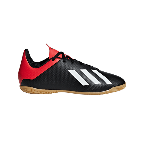 ADIDAS JUNIOR X 18.4 INDOOR SOCCER CLEAT RED/WHITE/BLACK
