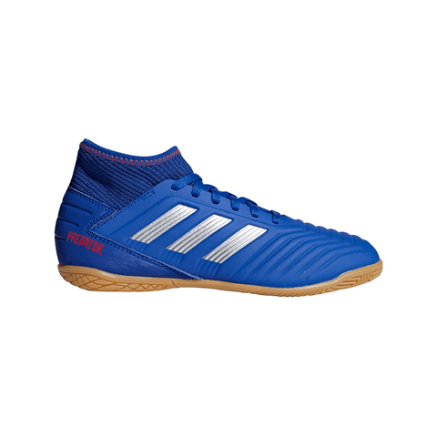 ADIDAS JUNIOR PREDATOR 19.3 INDOOR SOCCER CLEAT BLUE/SILVER