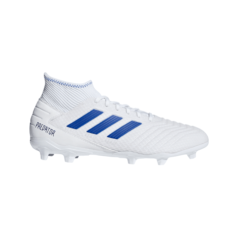 ADIDAS MEN'S PREDATOR 19.3 FG SOCCER CLEAT WHITE/BLUE