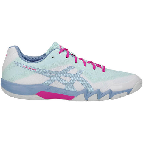 ASICS WOMEN'S GEL BLADE 6 INDOOR COURT SHOE WHITE/ICY