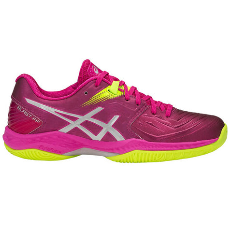 ASICS WOMEN'S GEL BLAST FF INDOOR COURT SHOE PINK RAVE/SILVER