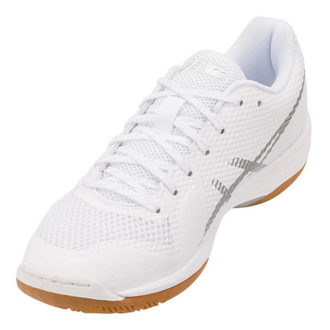 ASICS WOMEN'S GEL TACTIC 2 INDOOR COURT SHOE WHITE/SILVER