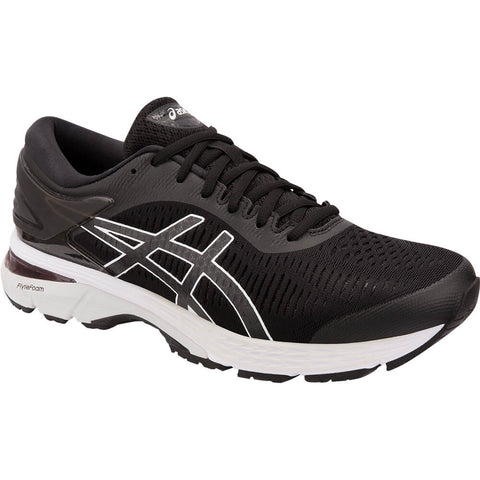 ASICS MEN'S GEL KAYANO 25 WIDTH 2E RUNNING SHOE BLACK/GREY