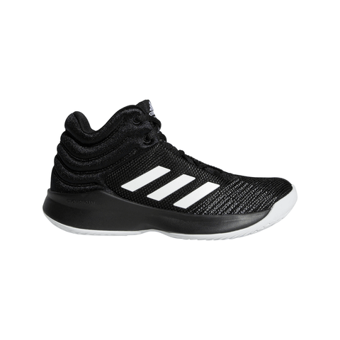 ADIDAS BOYS PRE-SCHOOL PRO SPARK BASKETBALL KIDS SHOE BLACK/WHITE/GREY
