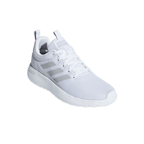 ADIDAS GIRLS GRADE SCHOOL/PRE-SCHOOL LITE RACER CLN KIDS SHOE WHITE/WHITE/GREY