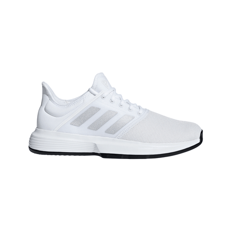 ADIDAS MEN'S GAME COURT RUNNING SHOE WHITE/SILVER/BLACK