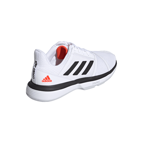 ADIDAS MEN'S COURTJAM BOUNCE TENNIS SHOE WHITE/BLACK