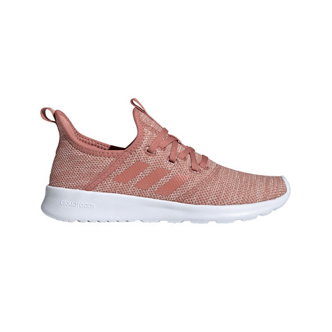 ADIDAS WOMEN'S CLOUDFOAM PURE RUNNING SHOE RAWPIN/RAWPIN/WHITE
