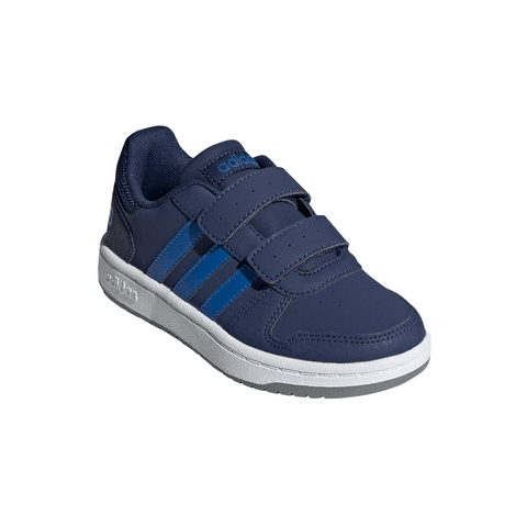 ADIDAS BOYS PRE-SCHOOL HOOPS 2.0 CMF KIDS SHOE DARK BLUE/BLUE/GREY
