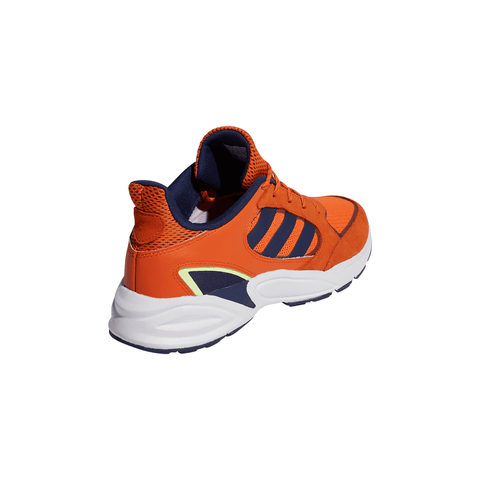 ADIDAS MEN'S 90S VALASION RUNNING SHOE ORANGE/DARK BLUE