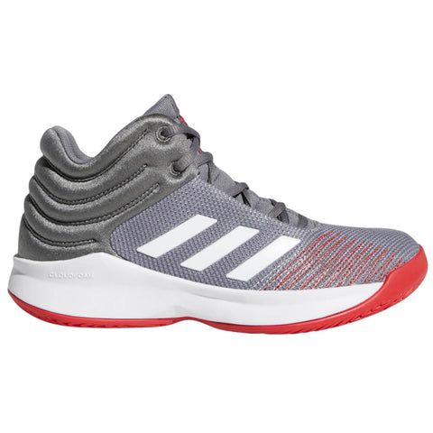 ADIDAS BOYS GRADE SCHOOL PRO SPARK BASKETBALL KIDS SHOE GREY/WHITE/RED