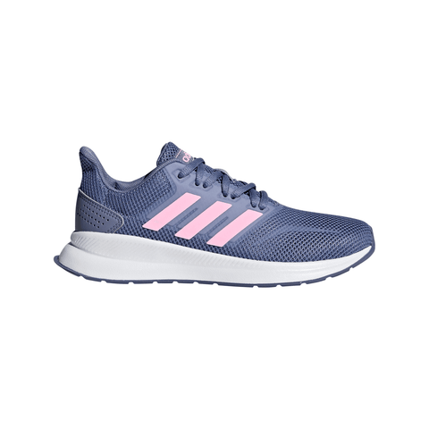 ADIDAS GIRLS GRADE SCHOOL/PRE-SCHOOL RUNFALCON KIDS SHOE GREY/TRUE PINK/BLACK