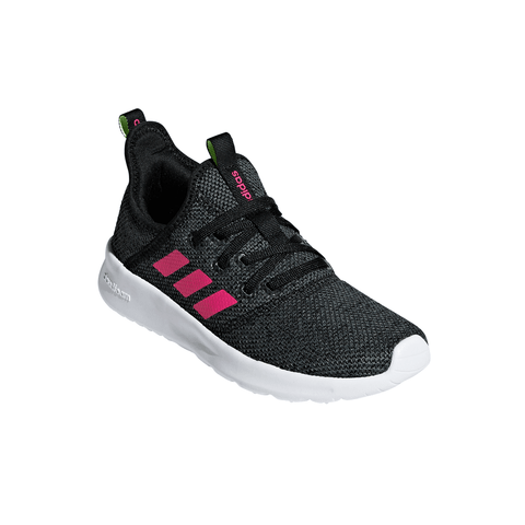 ADIDAS GIRLS GRADE SCHOOL/PRE-SCHOOL CLOUDFOAM PURE KIDS SHOE BLACK/PINK/GREY