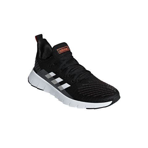 ADIDAS MEN'S ASWEEGO RUNNING SHOE BLACK/WHITE/SOLAR RED