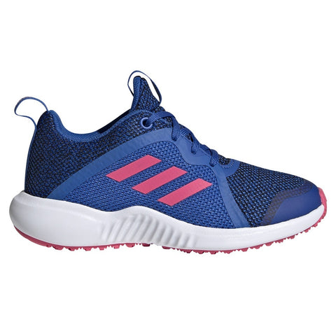 ADIDAS GIRLS GRADE SCHOOL/PRE-SCHOOL FORTARUN X KNIT KIDS SHOE BLUE/PINK/BLACK