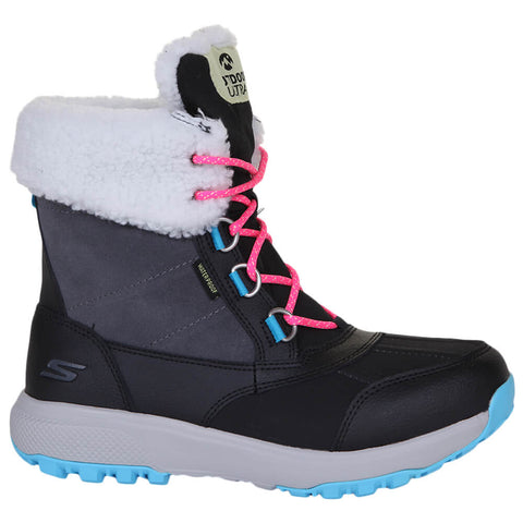 SKECHERS WOMEN'S OUTDOOR ULTRA - SNOW CAPPED WINTER BOOT BLACK