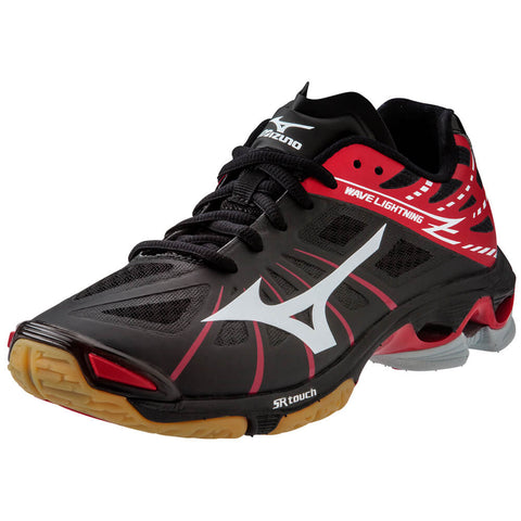 MIZUNO WOMEN'S WAVE LIGHTNING Z INDOOR COURT SHOE BLACK/RED