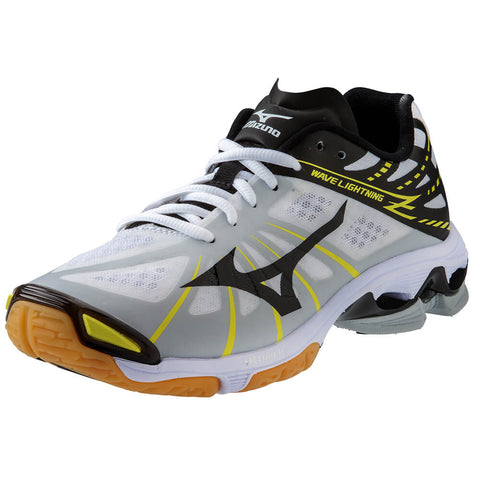MIZUNO MEN'S WAVE LIGHTNING Z INDOOR COURT SHOE WHITE/BLACK