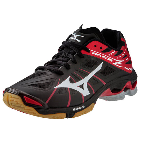 MIZUNO MEN'S WAVE LIGHTNING Z INDOOR COURT SHOE BLACK/RED