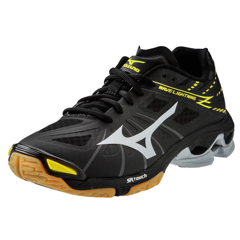 MIZUNO MEN'S WAVE LIGHTNING Z INDOOR COURT SHOE BLACK/GREY