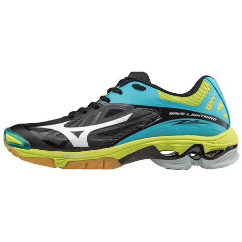 MIZUNO WOMEN'S WAVE LIGHTNING Z2 INDOOR COURT SHOE BLACK/BLUE