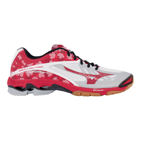 MIZUNO MEN'S WAVE LIGHTNING Z2 INDOOR COURT SHOE WHITE/RED