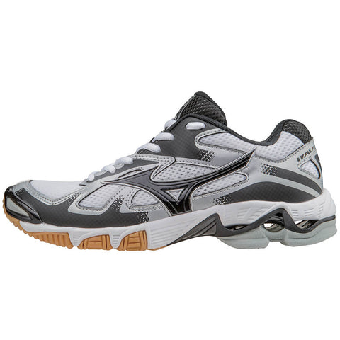 MIZUNO WOMEN'S WAVE BOLT 5 INDOOR COURT SHOE WHITE/BLACK