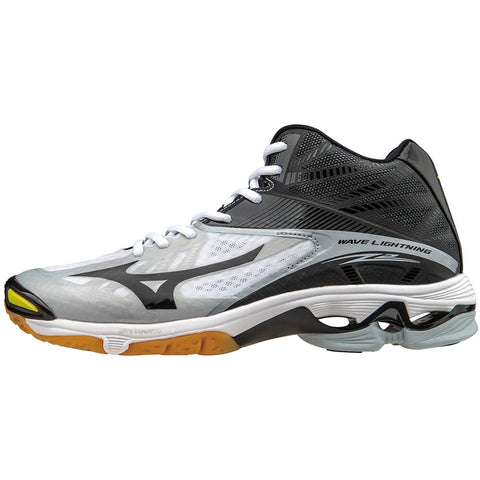 MIZUNO MEN'S WAVE LIGHTNING Z2 MID INDOOR COURT SHOE WHITE/BLACK