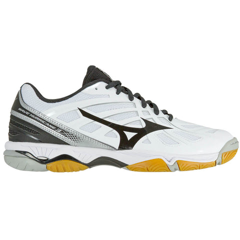 MIZUNO WOMEN'S WAVE HURRICANE 3 INDOOR COURT SHOE WHITE/BLACK