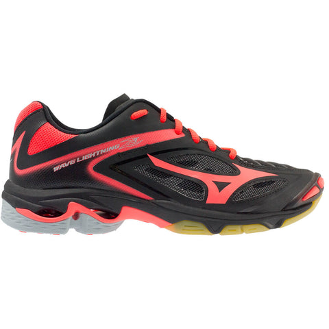 MIZUNO WOMEN'S WAVE LIGHTNING Z3 INDOOR COURT SHOE BLACK/CORAL