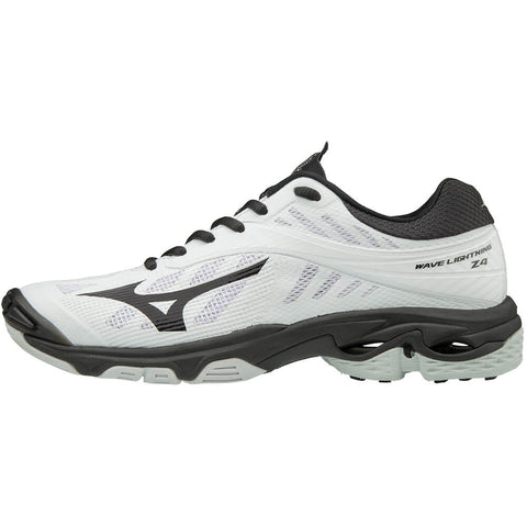 MIZUNO WOMEN'S WAVE LIGHTNING Z4 INDOOR COURT SHOE WHITE/BLACK