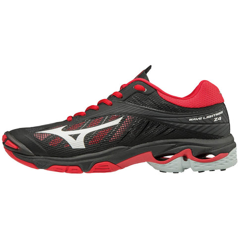 MIZUNO WOMEN'S WAVE LIGHTNING Z4 INDOOR COURT SHOE BLACK/RED