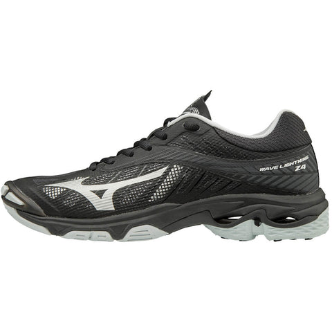 MIZUNO WOMEN'S WAVE LIGHTNING Z4 INDOOR COURT SHOE BLACK/GREY