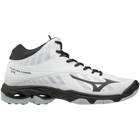 MIZUNO MEN'S WAVE LIGHTNING Z4 MID INDOOR COURT SHOE WHITE/BLACK