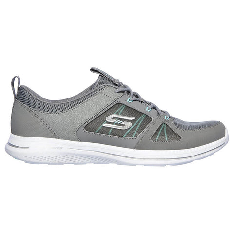 SKECHERS WOMEN'S CITY PRO - WITHOUT A CARE RUNNING SHOE GREY/MINT
