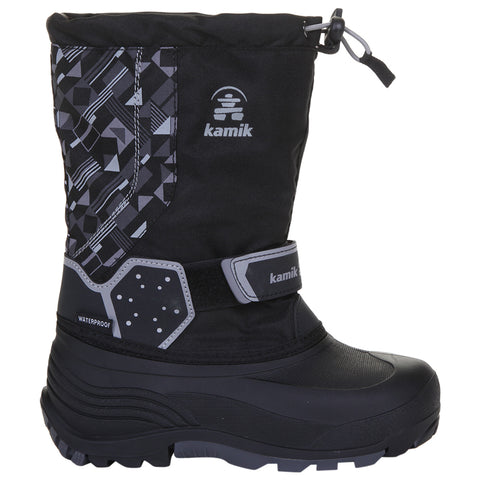 KAMIK BOYS ICETRACK P WINTER BOOT BLACK/CHARCOAL
